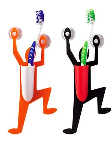 WYZQ PP Superman Tooth Brush Holder, colore casuale, W4cm x L9cm x H23cm