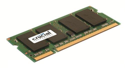 Crucial 2GB, 200-pin SODIMM, DDR2 PC2-5300 memory module
