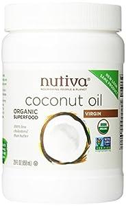 Nutiva Organic Virgin Coconut Oil, 29oz, (Pack of 2)