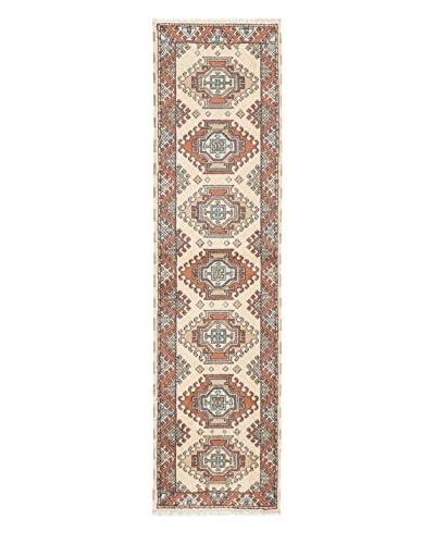 Hand-Knotted Royal Kazak Rug, Cream, 2' 8 x 10' 1 Runner