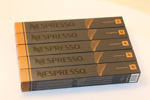 Purchase 50 Caramelito Nespresso Capsules Espresso Lungo Nestle by Nespresso