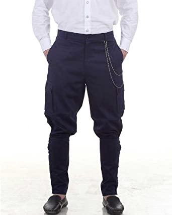 Steampunk Victorian Costume Airship Pants Trousers -Blue  AT vintagedancer.com