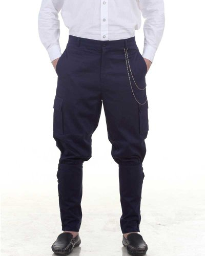Steampunk Victorian Costume Airship Pants Trousers -Blue