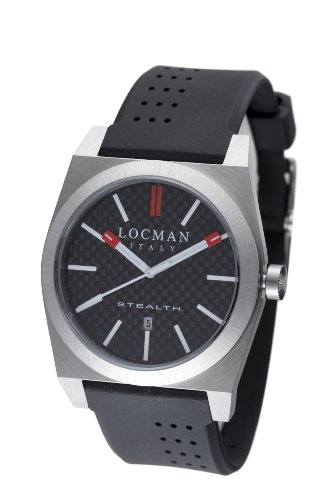 LOCMAN Watches:Locman Amazon Exclusive Men's 201CRBBK Quartz Stealth Sports Watch Images