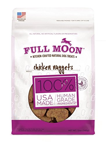 Full Moon All Natural Human Grade Dog Treats, Chicken Nugget, 12 Ounce (Full Moon Chicken Jerky For Dogs compare prices)