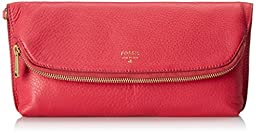 Fossil Preston Foldover Pouch Clutch, Bright Pink, One Size
