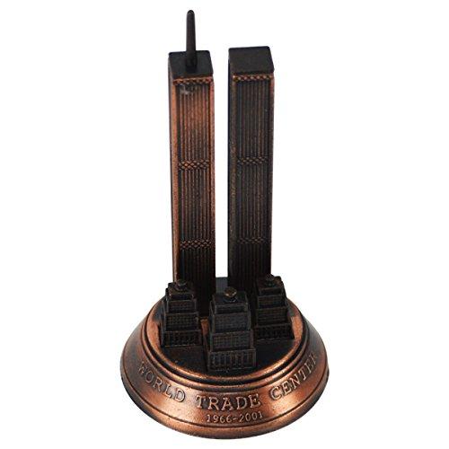 Bronze Metal World Trade Center 9/11 WTC Model Replica Die Cast Pencil Sharpener (World Trade Center Model compare prices)