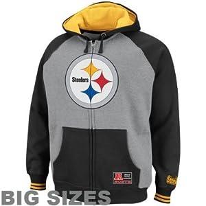c2216634 NFL Pittsburgh Steelers Intimidating IV Big Sizes Full Zip Hoodie ...