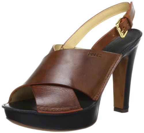 L'Autre Chose SANDALO DONNA 2022 MARRONE + 1001 NERO Plateau Womens multi-coloured Mehrfarbig (BROWN+BLACK) Size: 5 (38 EU)