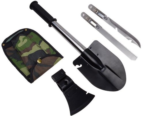 Ultimate Survival Emergency Camping Hiking Knife Shovel Axe Saw Gear Kit Tools front-1002643