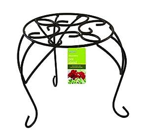 Gardman Support Pour Pot De Fleur 25cm Noir