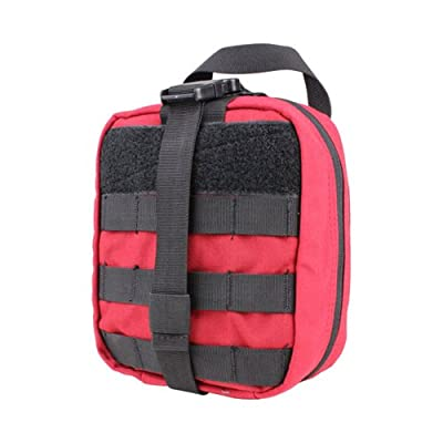 Tactical First Aid Kit: Condor Rip-Away EMT Pouch Red from Condor