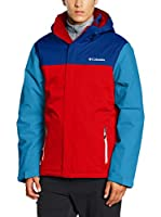 Columbia Chaqueta Everett Mountain (Rojo / Azul Medio)