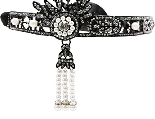 Zivyes-Art-Deco-The-Great-Gatsby-Leaf-Wedding-Tiara-HeadbandE-black