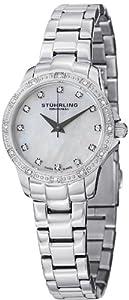 Stuhrling Original Women's 495.01 Audrey Cressida Swiss Quartz Crystal Stainless Steel Watch