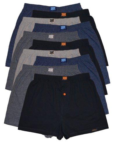 10 Boxershorts in klassischen Grundfarben – locker & weiche Unterhose Short Boxer 100% Baumwolle 10er Spar Pack Jungen Man M L XL 2XL 3XL 4XL