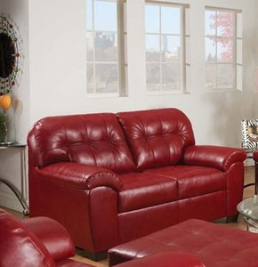 Cardinal Bonded Leather Loveseat by Acme Furniture