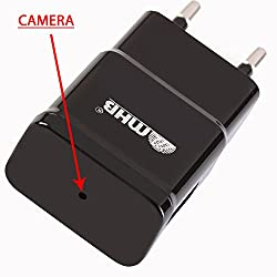 M MHB New Full HD 1080p Plug Wall Charger Adapter Camera Hidden Mini Pin Hole camcorder Secret Spy cam Support 32gb card. While recording no light Flashes..Sold by M MHB.