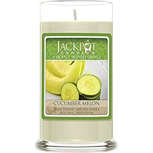 Cucumber Melon Candle with Ring Inside - Ring Size 7 (Surprise Jewelry Valued at $15 to $5,000) from Jackpot Candles