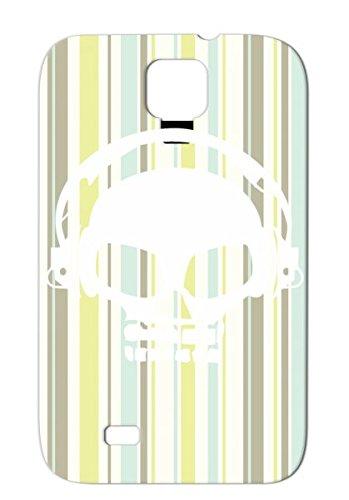 Dubstep Dj White Skull With Headphones Hardcore Skid-Proof For Sumsang Galaxy S4 White Dj Dubstep Techno Hardcore Dance Skull Club Skeleton Head Headphones Dancefloor Killer Dance Electronica Music Protective Hard Case