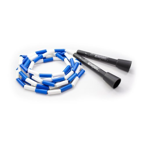 BuyJumpRopes Segmented Jump Rope (blue white, 7 ft) (Kids Jump Ropes compare prices)