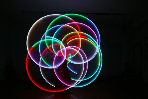 Pair Of Going Swing Led Poi Super Bright - 9 Modes