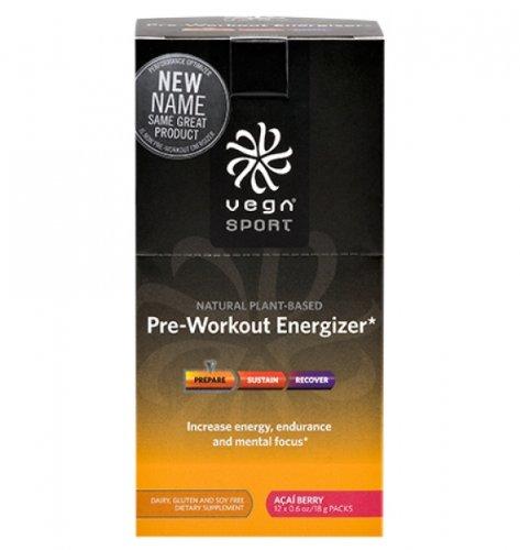Vega Sport Pre-Workout Energizer, Acai Berry, 12 Count