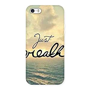 Just Breath Back Case Cover for iPhone SE