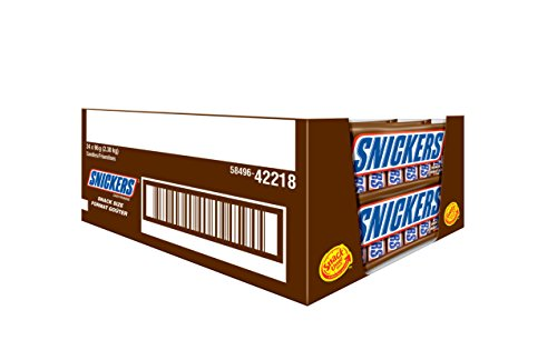 Snickers Chocolate 6 Snack Sizes 96g, 24-Count