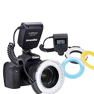 Commlite CoMiaray Macro Ring Flash for Canon, Nikon, Olympus, Pentax