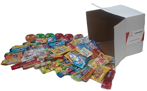 NOT AT ALL Healthy Snack Box, Cookies Chips Candy Variety (62 Count 5 Lbs) Care Package Bundle of 62 (American Care Package compare prices)