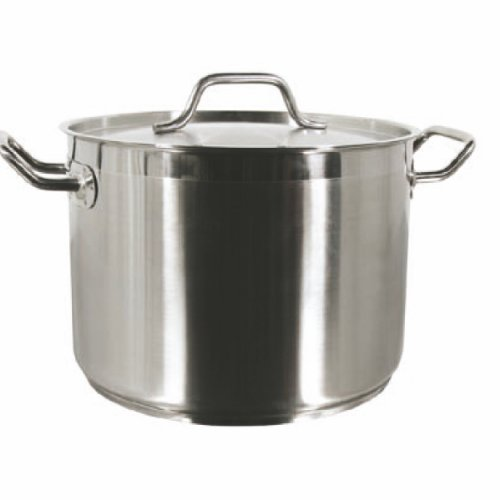 New Professional Commercial Grade 40 QT (Quart) Heavy Gauge Stainless Steel Stock Pot, 3-Ply Clad Base, Induction Ready, with Lid Cover NSF Certified Item (18 Gauge Stainless Steel Pot compare prices)