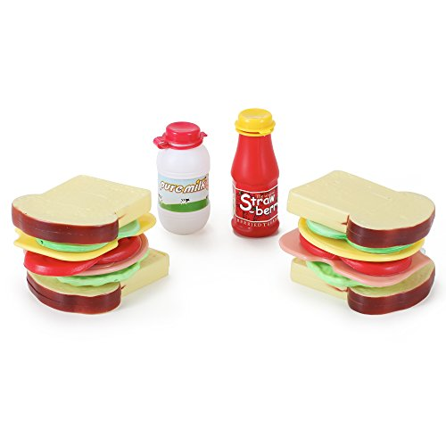 16 Pcs Country Club Sandwich Making Play Food Set for Kids - 1