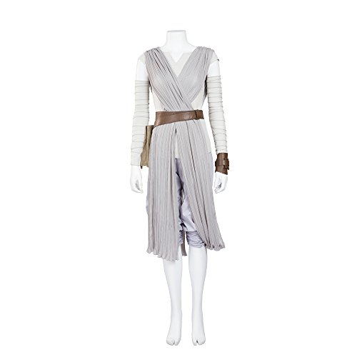 [HZYM Women's Star Wars Rey Cosplay Costume (L)] (Rey Star Wars Costume Replica)