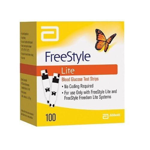 FreeStyle Lite 100 Strips (2 Pack of 50 Test Strips ) EXP: 10/30/2016