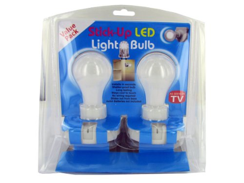 Case Of 24 - Stick-Up Led Light Bulb Value Pack