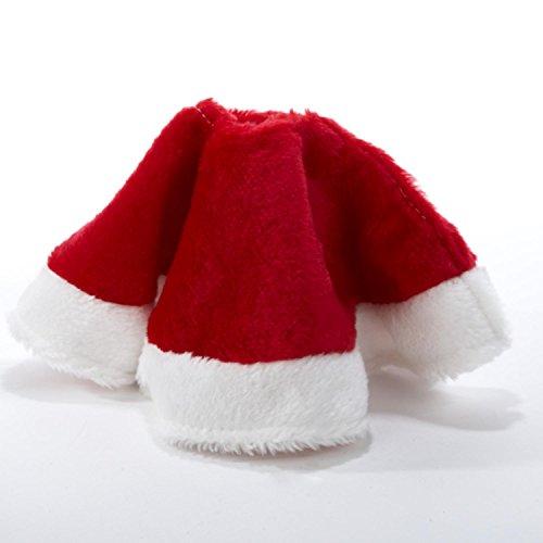 15-Red-and-White-Plush-Mini-Christmas-Tree-Skirt