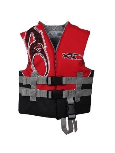 X20 USCG Approved Floatation Life Vest (Red, 30-50-Pound)
