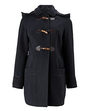 Maternity Navy Duffle Coat