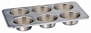 Kitchen Supply Stainless Steel 6-cup Muffin Pan