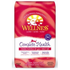 Detail image Wellness Complete Health Salmon, Salmon Meal & Deboned Turkey Recipe Dry Cat Food
