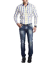 5EM Men's Slim Fit Jeans (Blue)