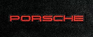 Logo 1993-1994 Porsche 911 Coupe|Turbo Luxury Small Deck Mat Luxury Cruiser Mat Color: Midnight Blue Mat Logo: Porsche Word Embroidery - Red