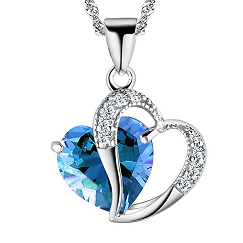 A Heart Full of Love [Azure] Sterling Silver Pendant Necklace
