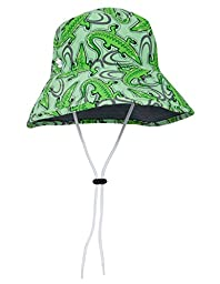 SunBusters Boys Bucket Hat (UPF 50+), Ice Green Croc, Small
