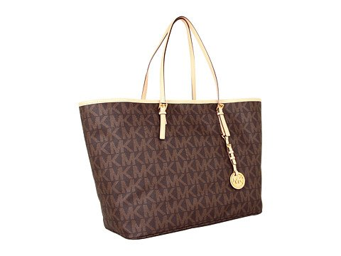 Michael Kors Jet Set Logo Medium Travel Tote BROWN