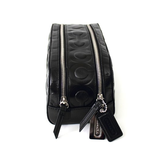 Coach   Coach Art Embossed Double Zip Travel Kit