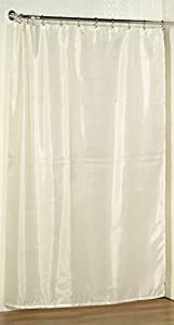 Carnation Home Fashions 70-Inch by 78-Inch Fabric Shower Curtain Liner, X-Long, Ivory