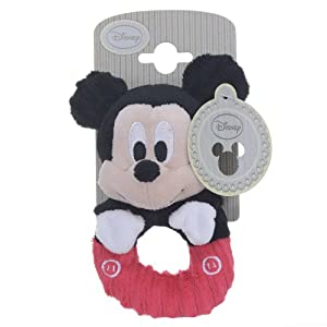 Disney Mickey Cord Ring Rattle Soft Toy