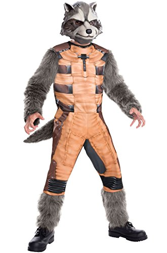 Mememall Fashion Guardians of the Galaxy Deluxe Rocket Raccoon Child Costume